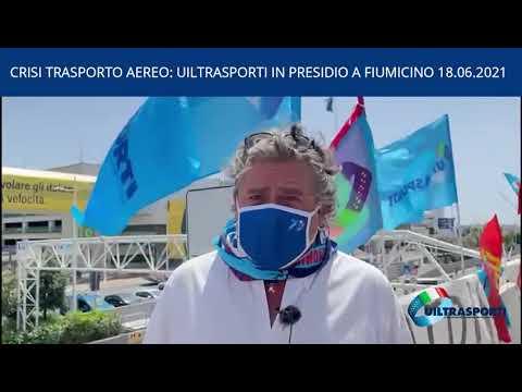 SOS TRASPORTO AEREO: UILTRASPORTI IN PRESIDIO A FIUMICINO
