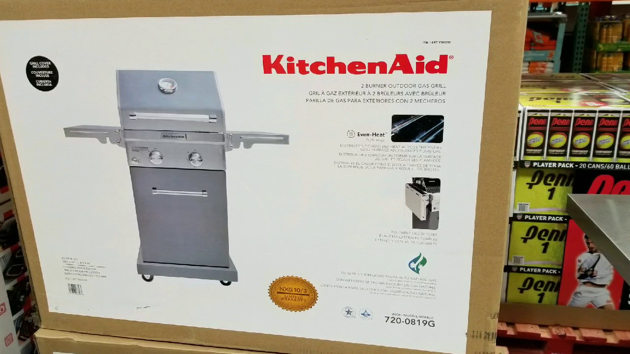 Costco Kitchen Aid Millwork Cabinets Kitchenaid 2 Burner 29 000 Btu Gas Grill 299 Youtube