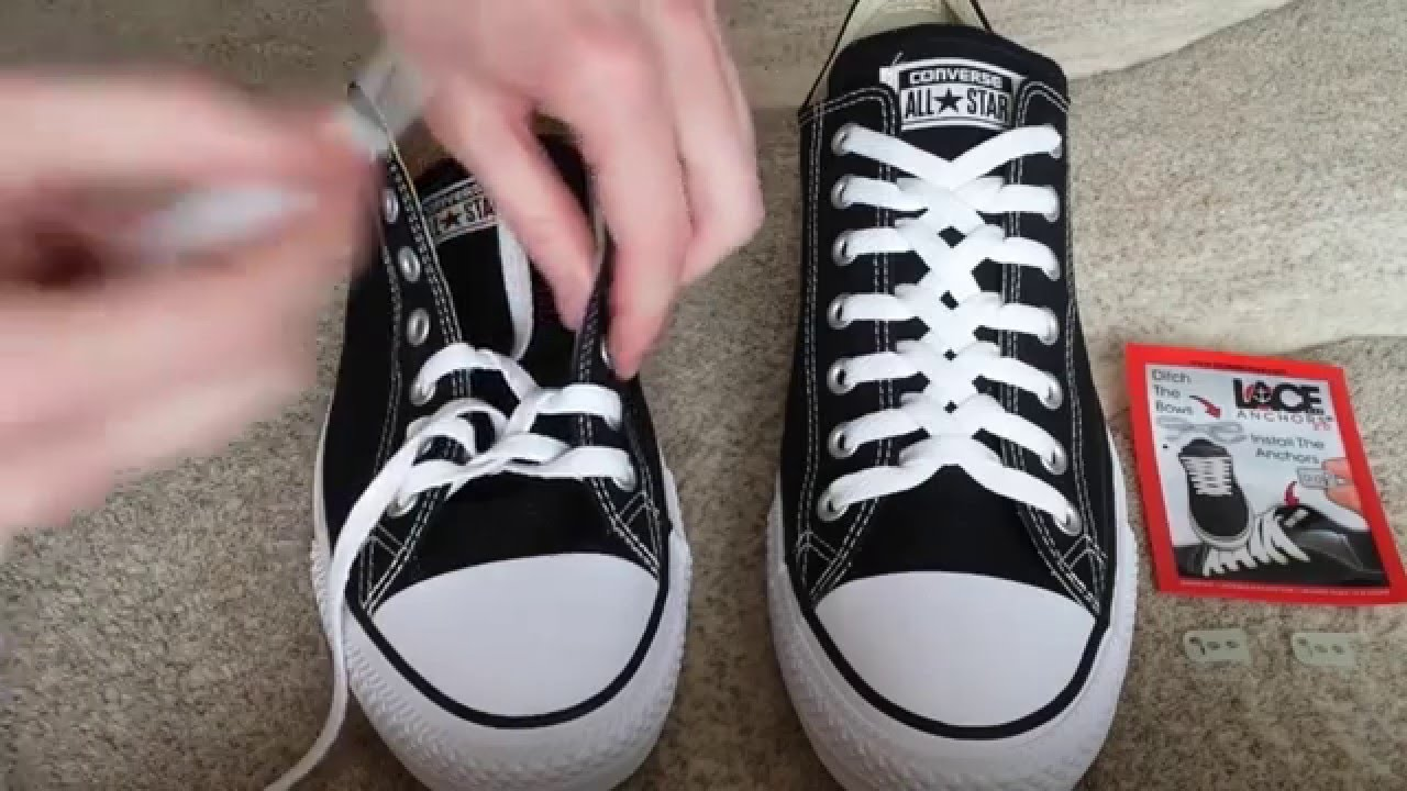 f430c3309f9c3f How To Zipper Lace Converse - YouTube