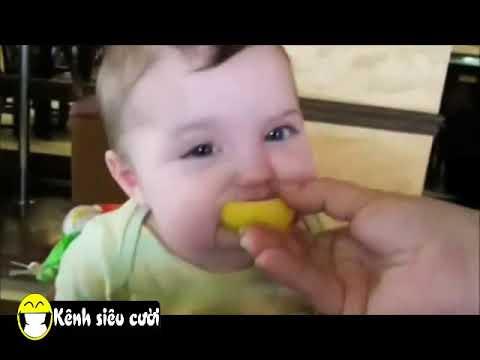 Tuyển tập clip hài cho bé ăn chanh cực kỳ thú vị