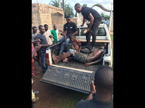 ROBBERS CAUGHT TODAY IN BENIN CITY, THEY RAPED THE WIFE OF THE HOUSE OWNER N HIS PRESENCE