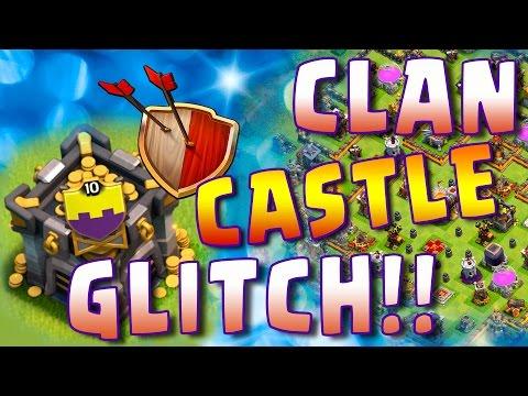 CLASH OF CLANS CLAN CASTLE GLITCH