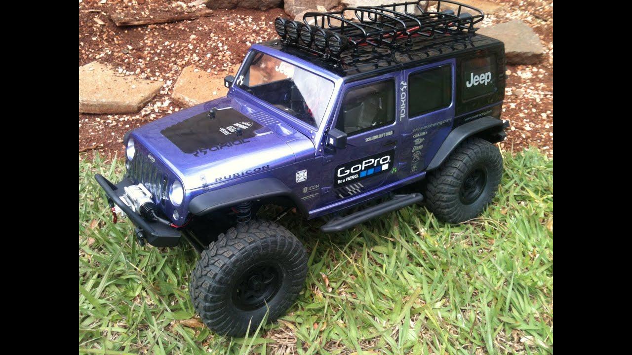 Jeep Wrangler Unlimited Interior >> Axial SCX10 Jeep Rubicon com Roof Rack e iluminação ...