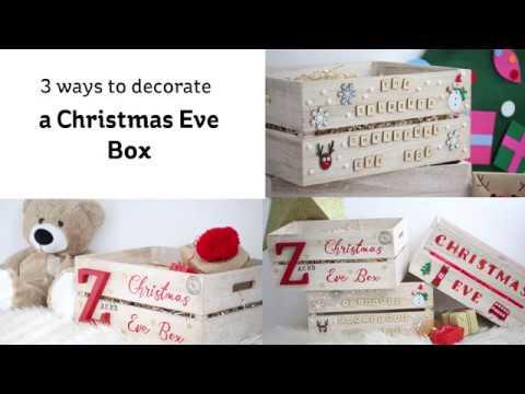 3 Ways To Decorate A Christmas Eve Box Hobbycraft Youtube
