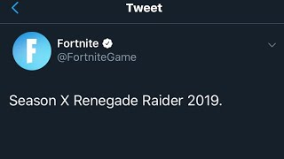 Fortnite ACCIDENTALLY Leaked Renegade Raider Coming Out! Season X Fortnite Battle Royale