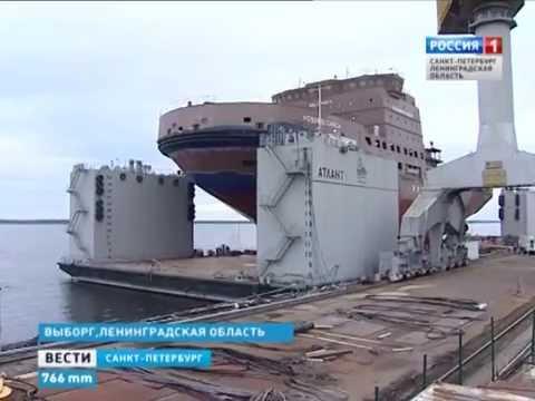 На судостроительном заводе в Выборге спустили на воду новый ледокол «Новороссийск» (29.10.15)