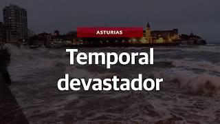 Las espectaculares imágenes de las inundaciones en Asturias
