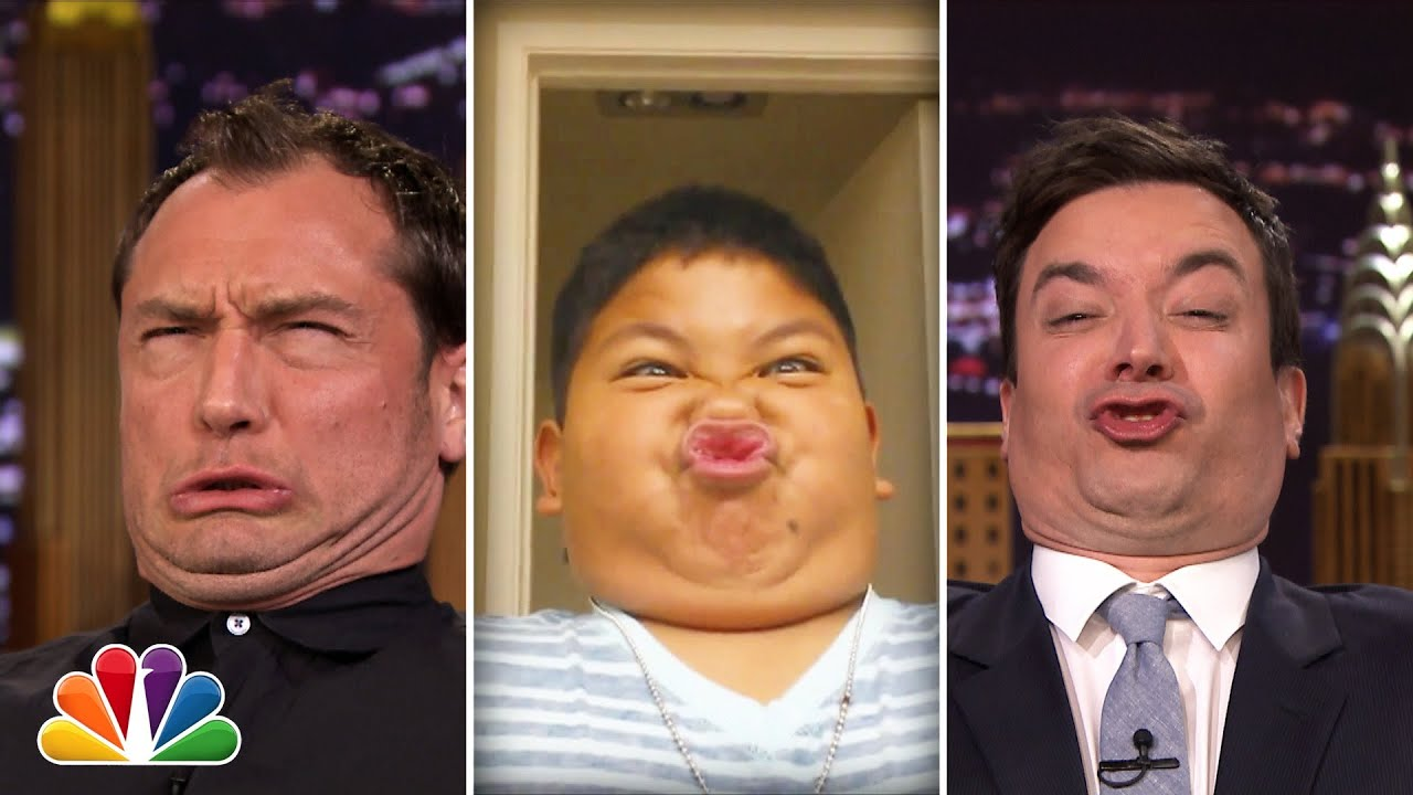 Tonight Show Funny Face Off with Jude Law