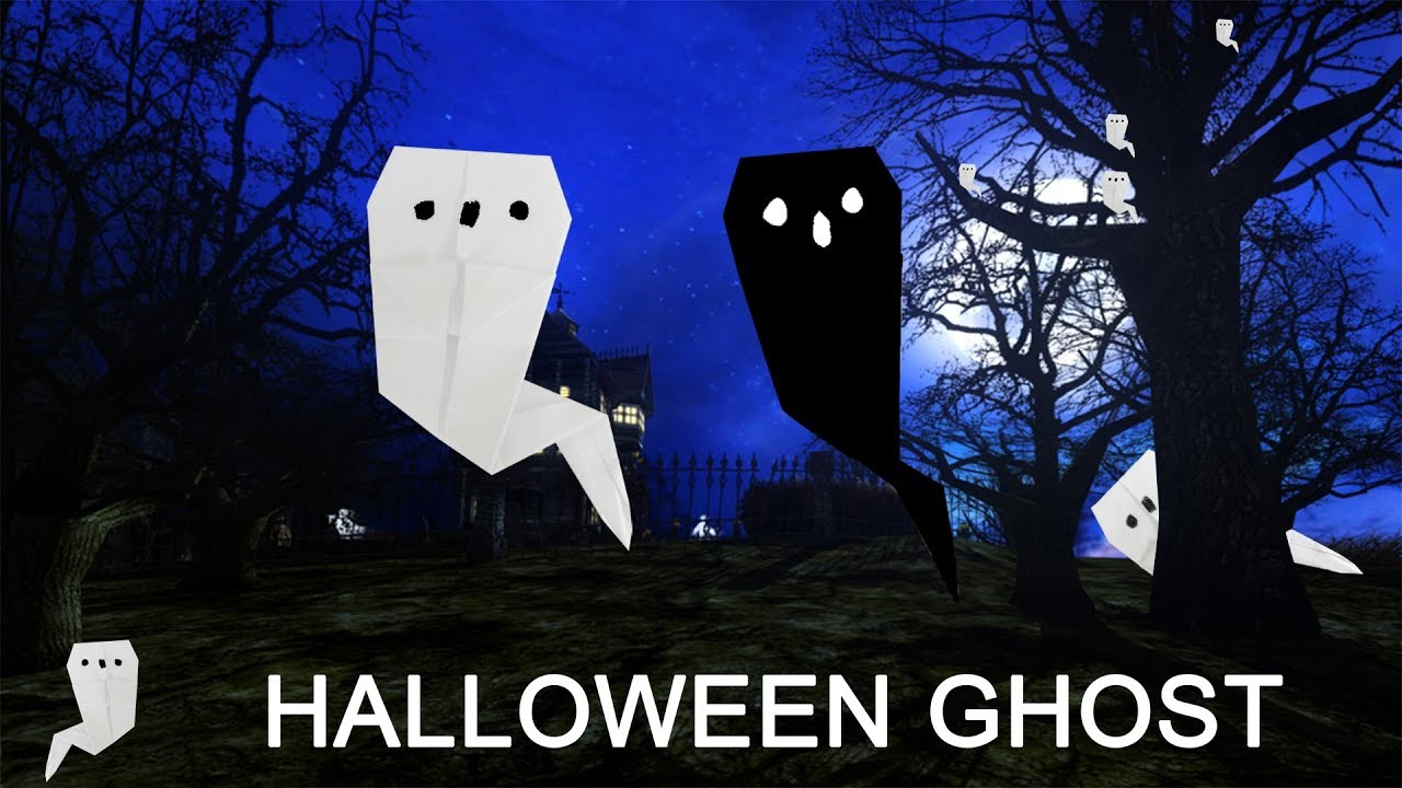 Origami ghost origami halloween origami easy halloween origami ghost origami halloween origami easy halloweenghost linas craft club jeuxipadfo Choice Image