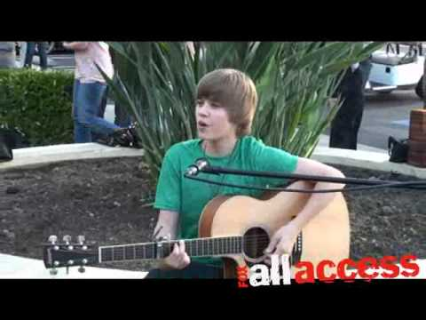 Justin bieber quot one time quot live youtube