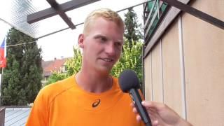 Patrik Malý po prohře ve finále kvalifikace na turnaji Futures v Pardubicích