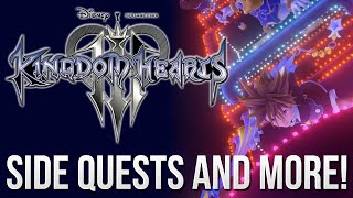 Kingdom Hearts 3 News - Side Quests, Leveling up and More!
