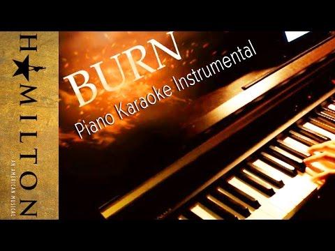 """Burn"" - Hamilton    [Piano Karaoke Instrumental]"