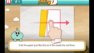 let's fold Lets Fold origami level 1  Walkthrough