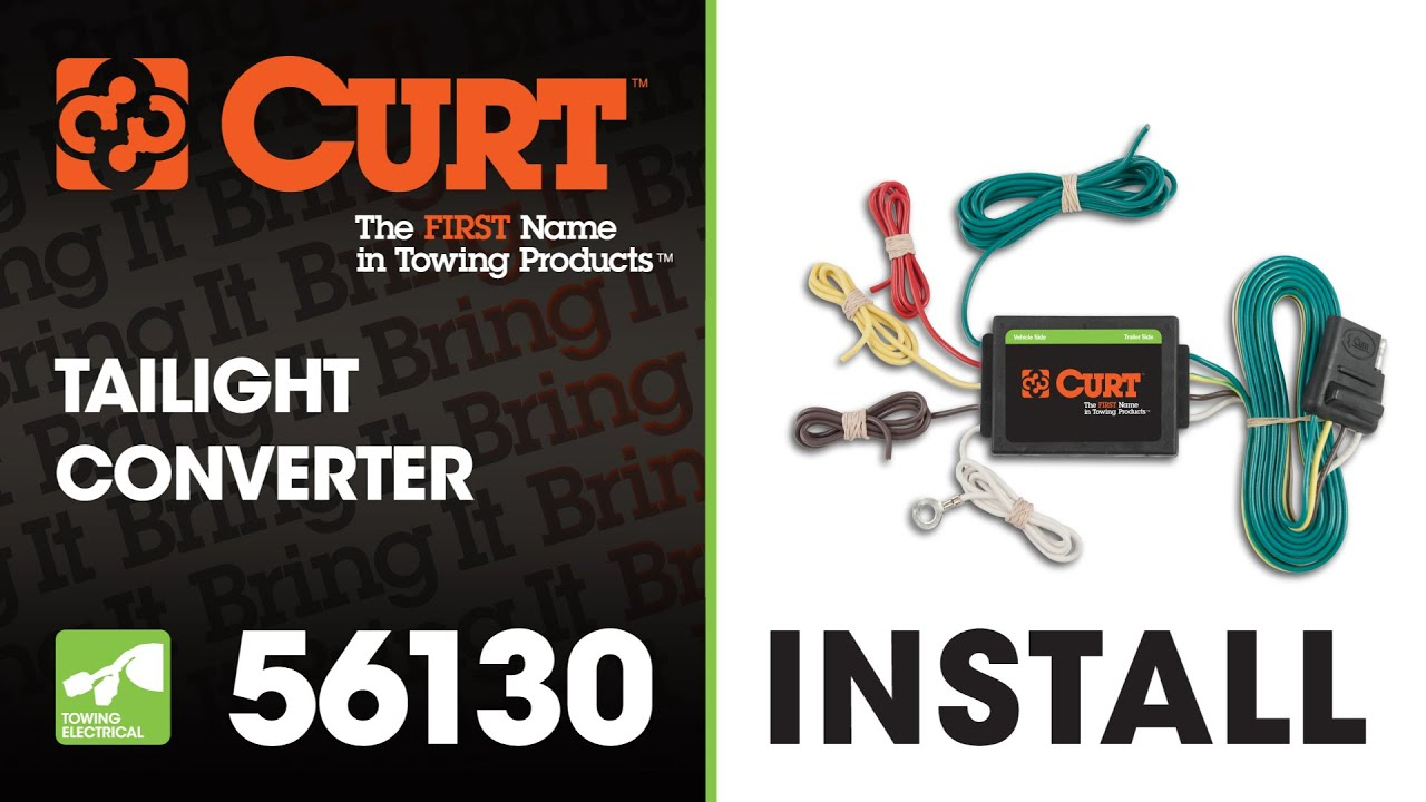 small resolution of trailer wiring install curt 56130 taillight converter