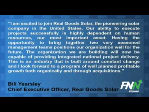Real Goods Solar, Alteris Renewables Announced Definitive Merger Agreement