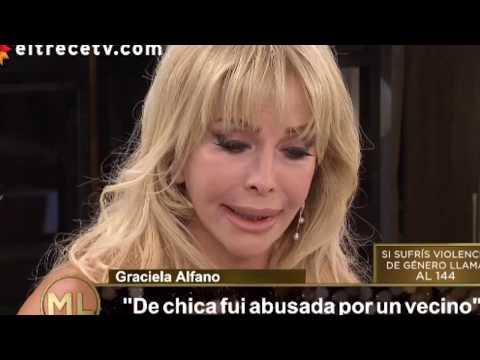 Graciela Alfano se quebró al contar un abuso que sufrió cuando era nena