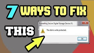 7 Ways to Remove Write Protection from Pen Drive or SD Card 2018  Tech Zaada