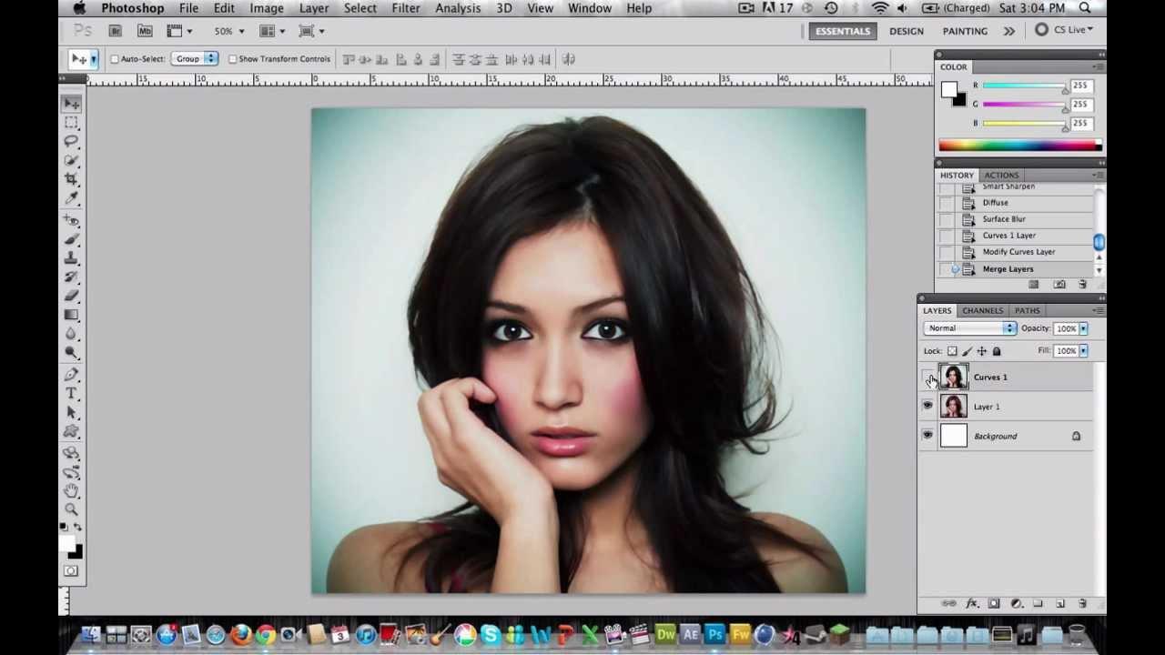 How to create soft and glamour skin on photoshop adobe photoshop how to create soft and glamour skin on photoshop adobe photoshop tutorial hd youtube baditri Choice Image