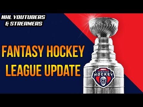 NHL Youtubers/Streamers Fantasy Hockey League Update