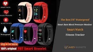 F07 Waterproof Smart Watch Heart Rate Blood Pressure Monitor Fitness Tracker