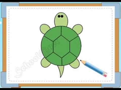 BÉ HỌA SĨ - Thực hành tập vẽ 180: Vẽ con rùa