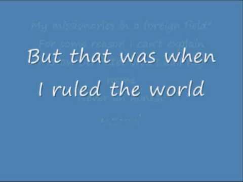 Coldplay viva la vida lyrics