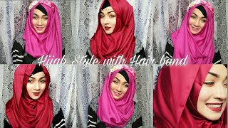Easy 4 way to wear headband with Hijab & different outfits ft Styline Collection   Pari ZaaD