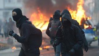 BLOCKUPY-Proteste : In Frankfurt herrscht Ausnahmezustand
