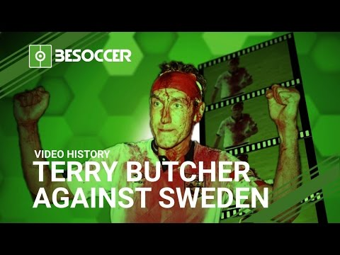 TERRY BUTCHER AGAINST SWEDEN