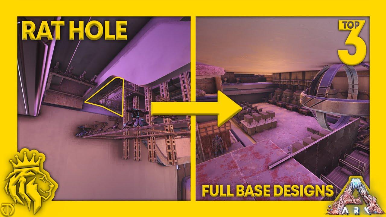 Download TOP 3 Rat Holes W/ FULL BASE Designs On Genesis 2!   ARK: Survival Evolved