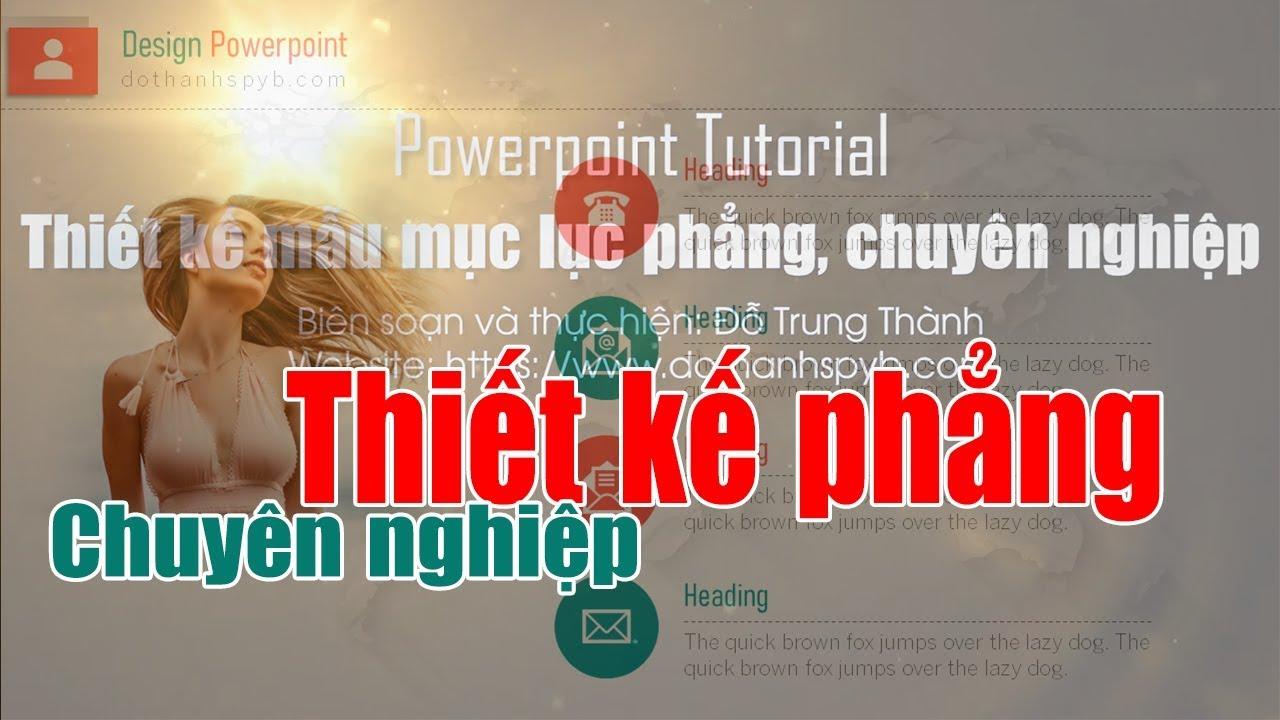 Powerpoint - thiết kế mục lục phẳng chuyên nghiệp