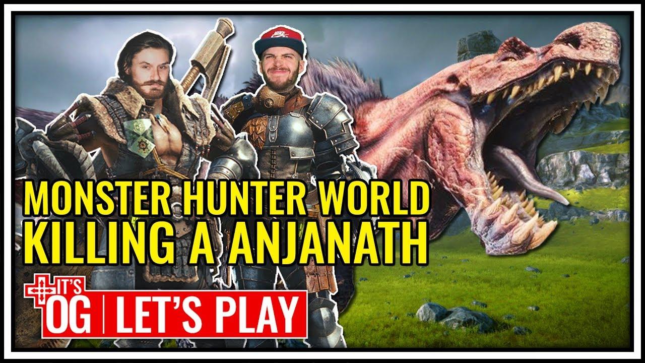 how to kill anjanath monster hunter world