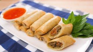 Green Curry Spring Rolls Recipe  Thai Recipes เปาะเปยะเขยวหวาน