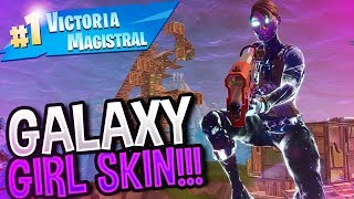 PARTIDAZA CON LA SKIN DE GALAXY GIRL!! | Fortnite Battle Royale | Rubinho vlc