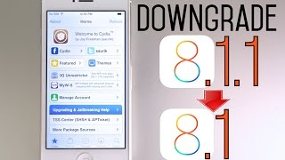 How To Downgrade iOS 8.1.1 To iOS 8.1 & Jailbreak Untethered