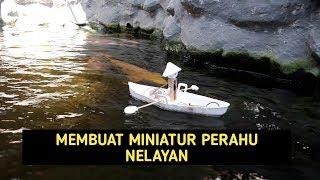 Cara membuat perahu dari gabus | miniatur perahu nelayan | ide kreatif dari gabus dan dinamo