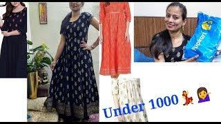 Flipkart 2019 latest kurti haul Under 1000/- / new Kurtis from flipkart