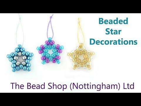 DIY : Beaded Star Decorations