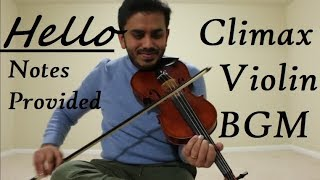 Download Lagu Hello Climax Violin Cover BGM  | అణగనగా ఒక ఊరు | Taqdeer | Notes in Description mp3