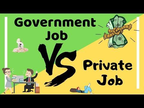 Government Job vs Private Job   Comparison (Hindi)