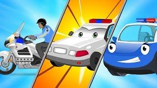 Police Car and Bike Wash & Repair Cartoon Video for Kids