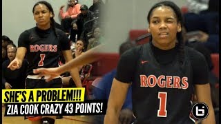 She'll Break Your ANKLES & Give Your WHOLE SQUAD Buckets!! Zia Cooke CRAZY 43 Points!!