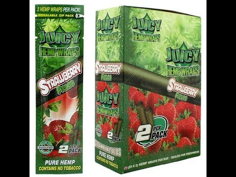 Juicy Hemp Wraps Strawberry Fields review!!!