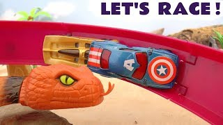 Hot Wheels Cars Race compilation with the funny Funlings and Superheroe Cars TT4U