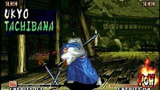 Samurai Shodown IV: Ukyo playthrough / lvl-8 【60fps】