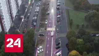 Пробки в Москве: водители обвиняют разметку. Неделя в городе - Россия 24