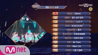 What are the TOP10 Songs in 1st week of June? M COUNTDOWN 170601 EP.526