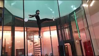 Скайдайвинг, красота и грация, акробатика в аэродинамической трубе