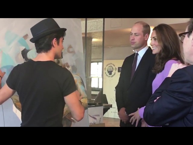 The Duke and Duchess of Cambridge collaboration with Dairo Vargas at Mental Health Summit